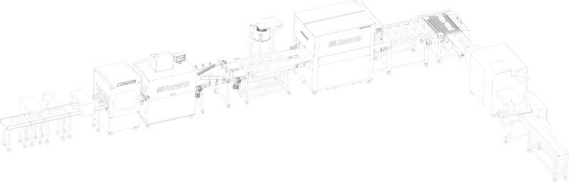 Γραμμή παραγωγής με συσκευασία Flowpack
