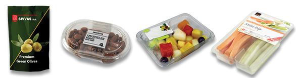 συσκευασία ελιάς, λαχανικών, φρούτων, ξηρών καρπών