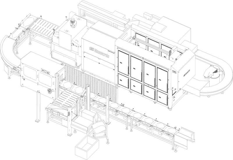 Γραμμή παραγωγής με ρομποτικό σύστημα φόρτωσης